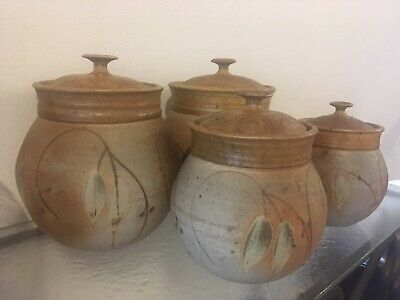 Pottery Ceramic Hand Made Cannisters