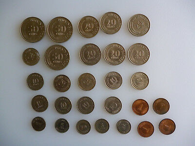28 coins - mix from Singapore.