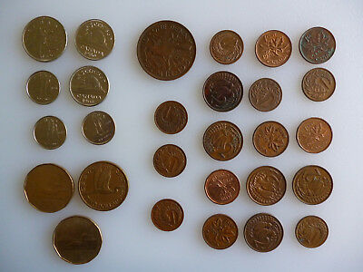 28 Canada & NewZealand mix of coins