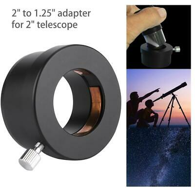 "2"" Convert to 1.25"" Adapter for Telescope Eyepieces Black Mental Connecter"