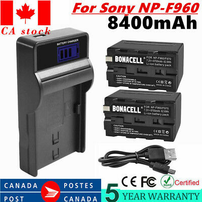 CA!  8700mAh Digital Battery Charger For Sony NP-F960 NP-F970 NP-F550 NP-F770 UB