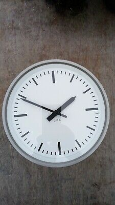 "Vintage GENTS White Faced GPO Post Office 9"" Wall Clock"