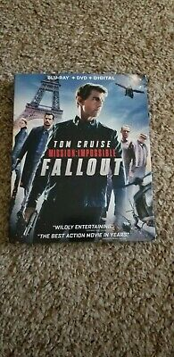 Mission Impossible FALLOUT Blu ray + DVD + Digital combo USED