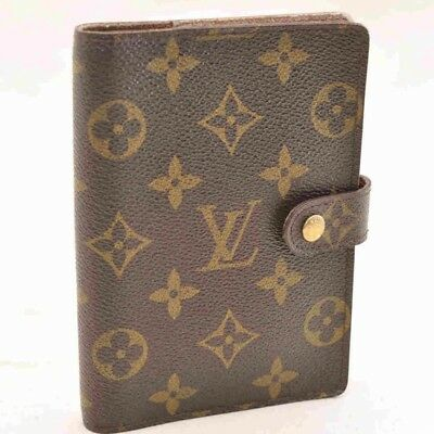 LOUIS VUITTON Monogram Agenda PM Day Planner Cover R20005 LV Auth yu352