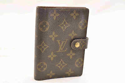 LOUIS VUITTON Monogram Agenda PM Day Planner Cover R20005 LV Auth yu353