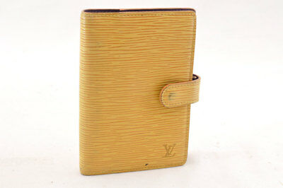 LOUIS VUITTON Epi Agenda PM Day Planner Cover Yellow R20059 LV Auth ht090