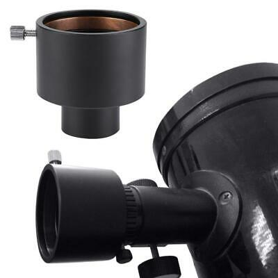 "Black Metal 1.25 Inch to 2"" Telescope Eyepiece Mount Adapter 31.7mm to 50.8mm"