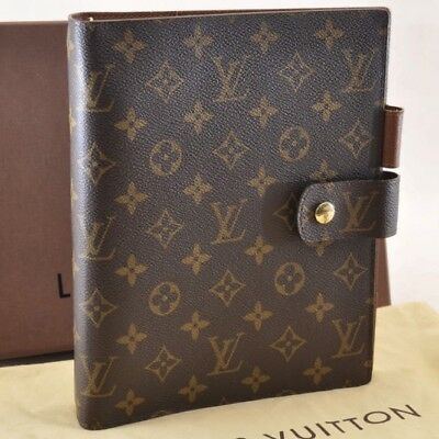 LOUIS VUITTON Monogram Agenda GM Day Planner Cover R20006 LV Auth sa1250