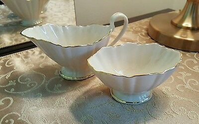 Lenox Symphony Sugar and Creamer Set  Gold Trim Vintage Made In USA
