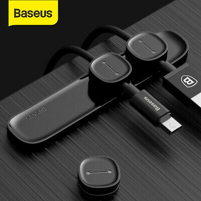 Baseus Magnetic Cable Organizer USB Charge Cable Management Winder Clips Cord