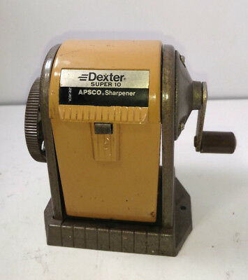 Vintage...Dexter..Super...10. APSCO...Desk Mount..Swing..Box.Pencil. Sharpener
