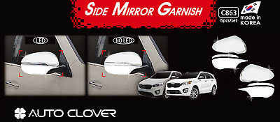 For Kia Sorento 2016-19 Chrome Side Door Mirror Cover Strip Bezel Overlay Trim