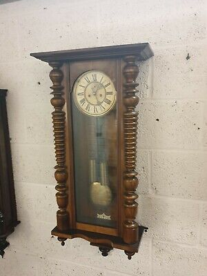 Antique Vienna wall clock Weight Driven Striking C1890