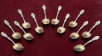 Tyrolean by Frank Whiting set of 12 Ice Cream Spoons, Sterling silver