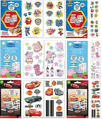 Edible cake CUT OUT cake decorations Licenced Product PEPPA PIG PAW PATROL CARS