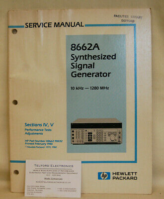 HP8662A Synthesized Signal Gerenator 10kHz-1280MHz Service Manual