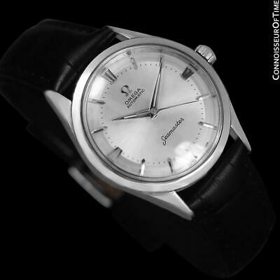 1958 OMEGA SEAMASTER Vintage Mens Unisex SS Steel Watch - Mint with Warranty