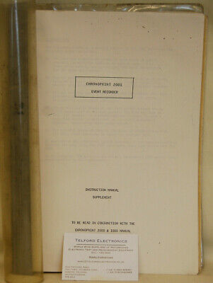 GEC Rectifiers Limited. Chronoprint 2001 Event Recorder Instruction Manual