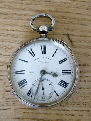 hm1898 ANTIQUE SOLID SILVER CASED GENTLEMAN'S POCKET WATCH REID COVENTRY