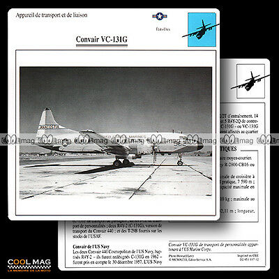 #117.12 CONVAIR VC 131 G - Fiche Avion Airplane Card