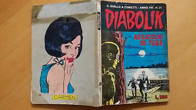 DIABOLIK anno VII n.21  Assassini in fuga   ORIGINALE  Sodip 1968