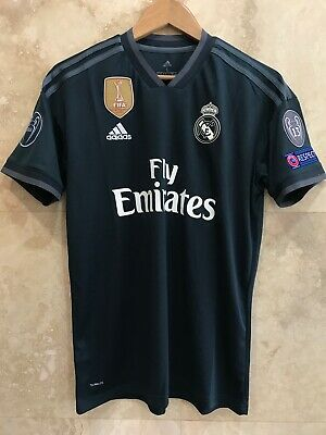 sale retailer 8276c 034e9 REAL MADRID 2018-2019 Champions League size L black away jersey