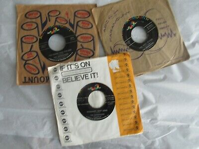 """Lot of 3 The Impressions 45 rpm 7"""" vinyl recordings on ABC-Paramount"""