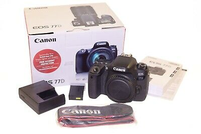 Canon EOS 77D 24.2 Megapixel Digital SLR Camera Body Only w/Box