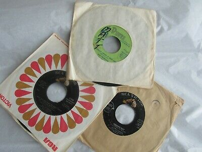 """Lot of 3 Ray Peterson 45 rpm 7"""" records Dunes and RCA labels"""