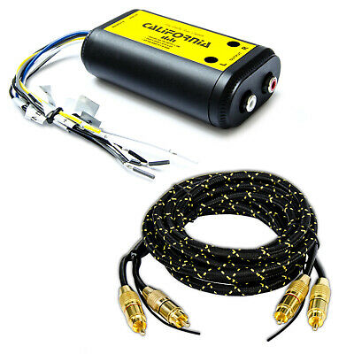 High Low Converter California,aktiv mit 3m Cinch-Kabel