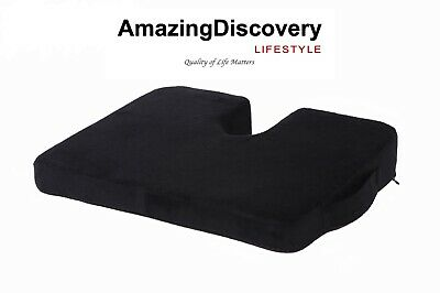 Memory Foam Coccyx Pain Relief U-Shaped Wedge Seat Cushion Amazing Discovery