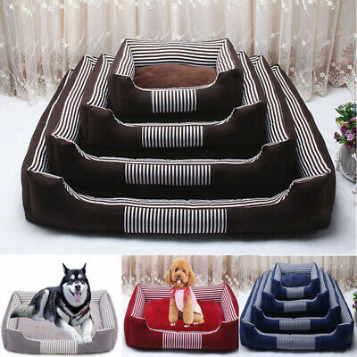 Pet Kennel Cat Dog Large Bed Puppy Cushion House Soft Warm Mat Blanket Nest Pad