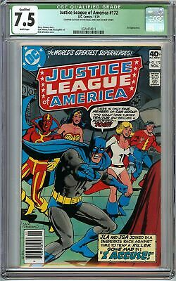 Justice League of America #172 CGC 7.5 JSA app Dick Giordano Cover DC Comics