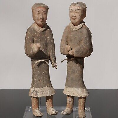 Large Pair of Western Han Dynasty Guardsmen Warriors '200BC - 200AD'