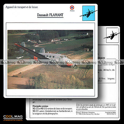 #006.13 DASSAULT FLAMANT - Fiche Avion Airplane Card