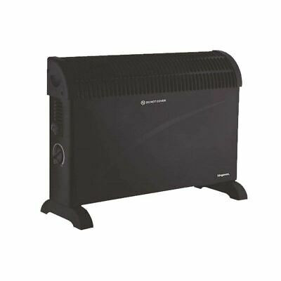 Electric Heater 2000W Convector Radiator Heating Free Standing 3 Settings Black