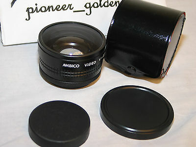 AMBICO CLOSE UP WIDE VIEW MACRO TELE CONVERSION LENS for digital movie cameras