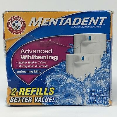 Mentadent Advanced Whitening Toothpaste Twin Refill 2 Total Refills