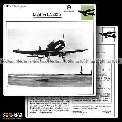#031.08 BLACKBURN B 24 SKUA - Fiche Avion Airplane Card
