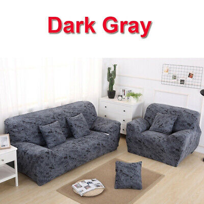 2 3 4 Seater Stretch Elastic Fabric Sofa Cover Corner Slipcovers Couch Covers