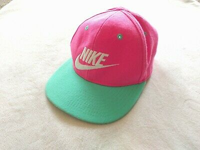 6fb30f0524a7f NIKE BASEBALL HAT Cap Girls 4-6X Youth Neon Pink  Turquoise -  14.99 ...