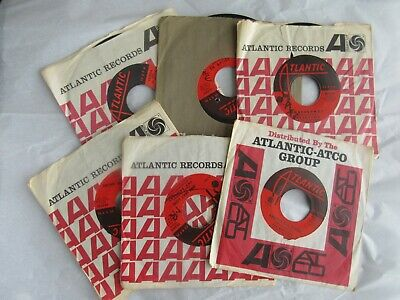 Lot of 6 45 rpm vinyl from The Drifters on Atlantic