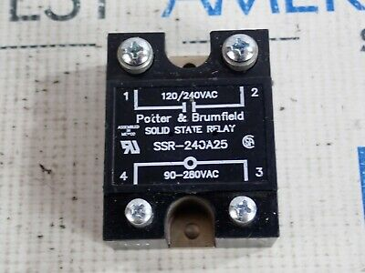Potter & Brumfield Ssr-240A25 Solid State Relay 120/240 Vac