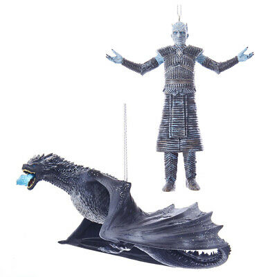 Kurt S. Adler Game Of Thrones™ - Night King & Ice Dragon Ornament Bundle