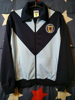 SCORE DRAW RETRO Scotland Training Football Zip Jacket Size S Adult