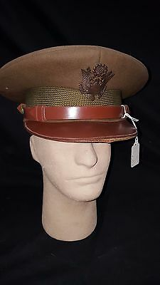U.S. Pre WWII Officers Hat with Bronze Insignia