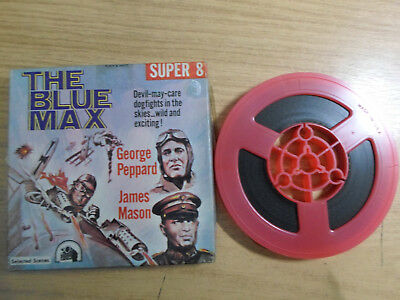 Super 8mm sound 1x200 THE BLUE MAX. George Peppard, James Mason classic.