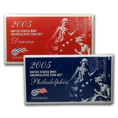 2005 United States Mint Uncirculated Coin Set Both Denver and Philadelphia mints
