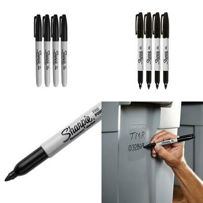Sharpie Permanent Markers, Fine Point, Black Ink (4-Pack)