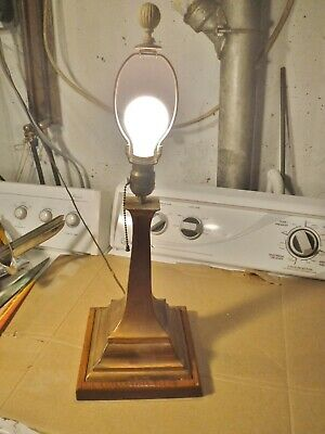 VTG ANTIQUE MISSION ARTS & CRAFTS Table LAMP steampunk
